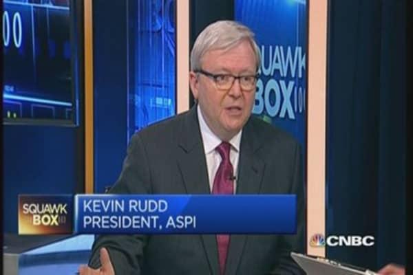 Rudd: Surprised by China's anti-graft drive