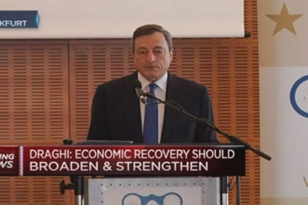Market reaction proves QE can work: Draghi