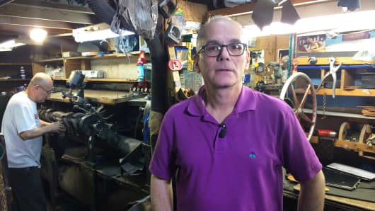 Joe Rocco is a third-generation owner of Jim's Shoe Repair on the Upper East Side. He's among the lucky small business owners, who have been able to negotiate a new lease and remain open in New York City amid soaring rents.