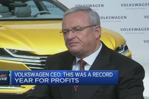 Volkswagen CEO on record profit year