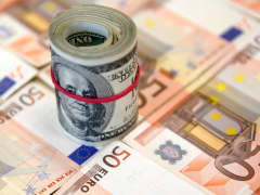 The U.S. dollar and Euro currencies