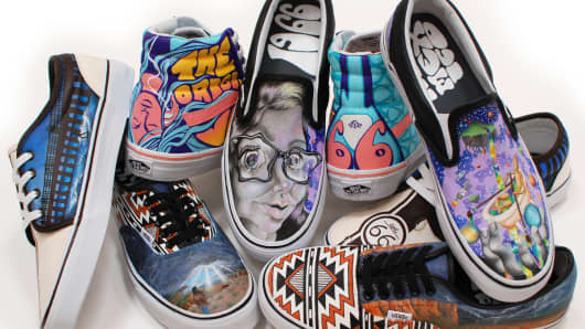 Vans shoes, with art done by Rio Rancho High School students.