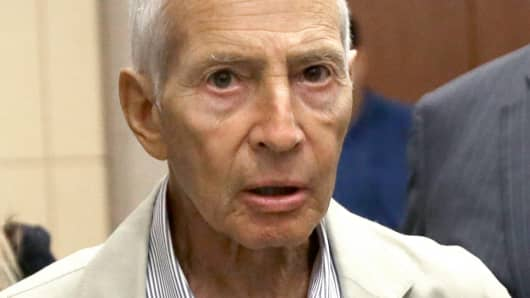 In this Aug. 15, 2014 file photo, real estate heir Robert Durst leaves a Houston courtroom.