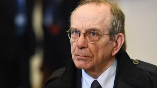 Italian Finance Minister Pier Carlo Padoan.