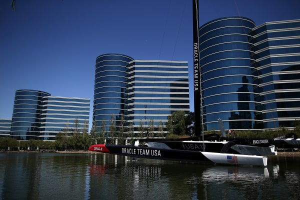 Oracle Corp. headquarters in Redwood Shores, California.