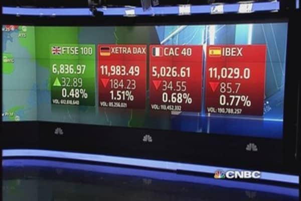 Europe ends lower ahead of Fed; Premier Oil surges