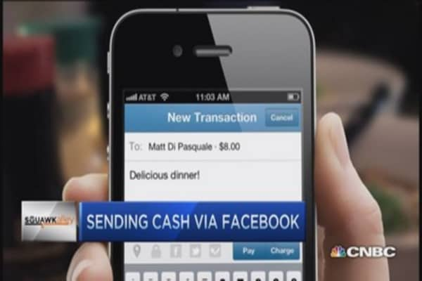 Send cash via Facebook