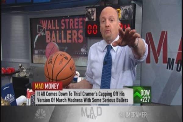 Cramer's March Madness:  Wells Fargo & Facebook face off