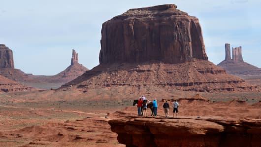 Monument Valley Navajo Tribal Park in southeastern Utah.