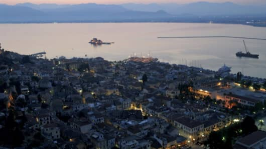 The town on Nafplion