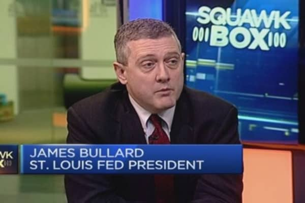 Fed shouldn't wait too long to hike rates: Fed's Bullard