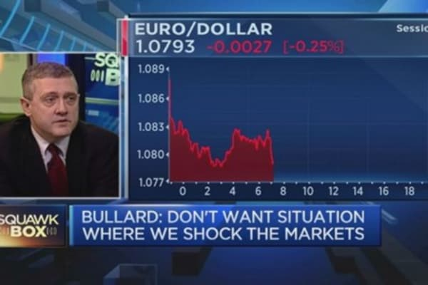 Dollar strength is due to ECB: Fed's Bullard