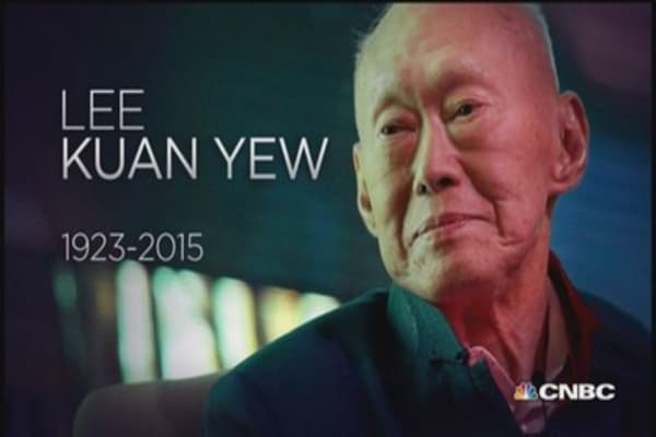 Lee Kuan Yew dies at age 91