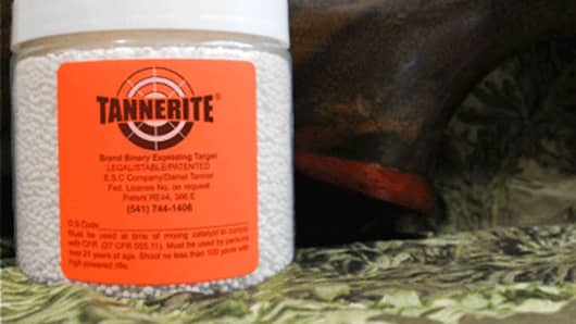Tannerite explosive targets.