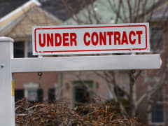Under Contract sign home house real estate