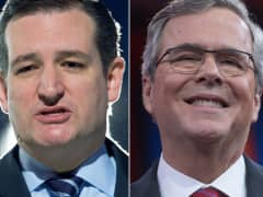 Sen. Ted Cruz and Jeb Bush.