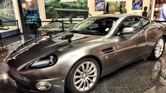 "The Aston Martin Vanquish, which was the disappearing car that James Bond drove in ""Die Another Day."""