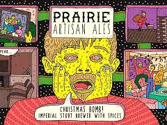 Beer Label Madness: Prairie Artisan Ales Chrismas Bomb.