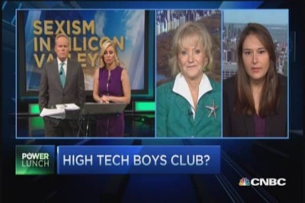 High tech boys club?