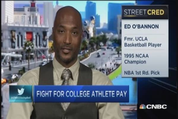 The fight for college athlete pay