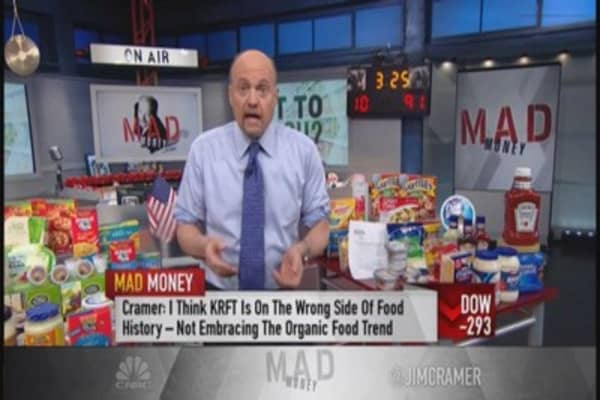 Kraft-Heinz merger; Cramer likes WhiteWave Foods