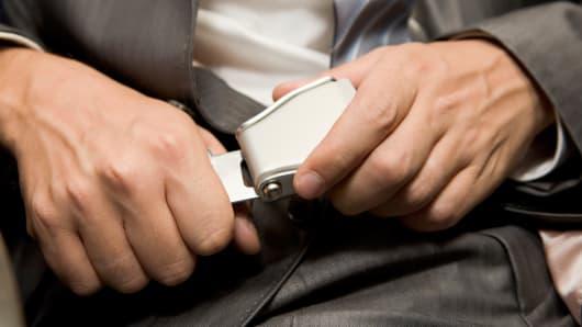 Businessman seatbelt