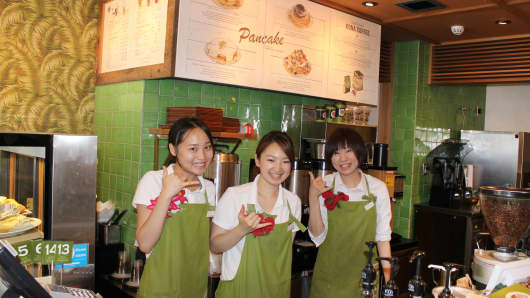 Employees of Honolulu Coffee