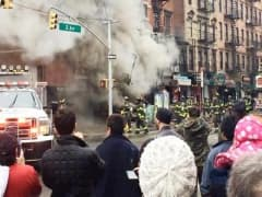 Security camera video of NYC building explosion