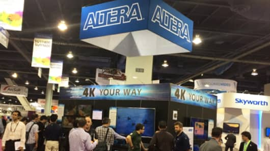 An Altera display at a trade show last year.