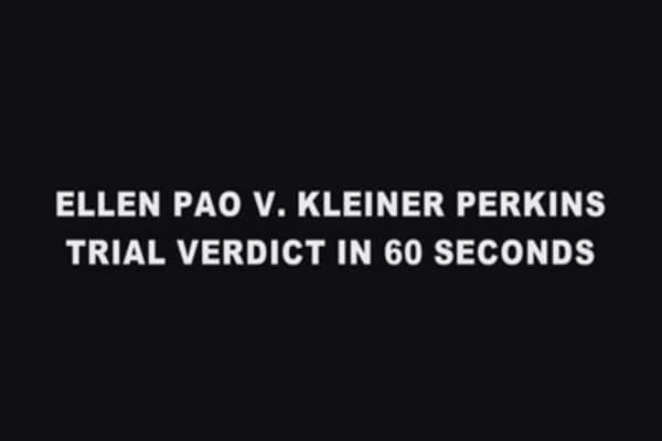The Ellen Pao, Kleiner Perkins verdict; Gender not a factor