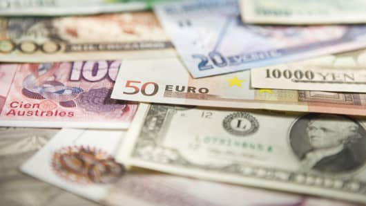currencies euro dollar yen