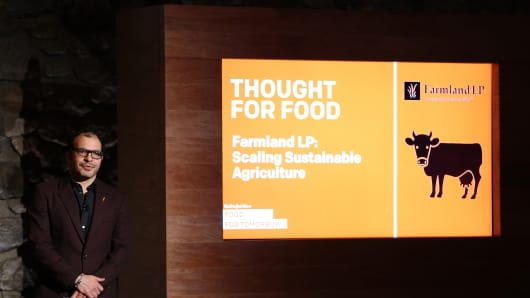 Ali Partovi speaks at The New York Times Food For Tomorrow Conference At Stone Barns, NY on November 12, 2014 in Pocantico Hills, New York.
