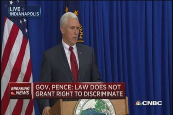 Gov. Pence: I abhor discrimination