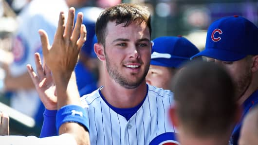 Kris Bryant of the Chicago Cubs, March 28, 2015 in Mesa, Arizona.