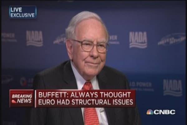 Buffett: Euro zone has to work in harmony