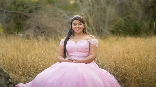 Quinceañera Natassia Casas flew to Los Angeles from her hometown of San Antonio, Texas just to have her dress made by a seamstress who had worked with her Nicaraguan grandmother. Her quinceañera was in Cancún.