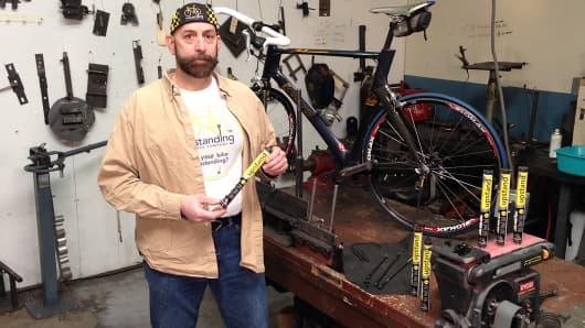 Garrett Blake of the Upstanding Bicycle Company.