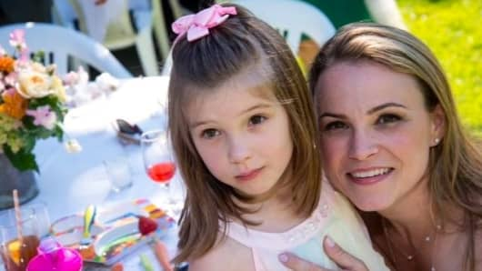 Rhonda Kelley, with her daughter Teagan, who was diagnosed with autism at 18 months old.