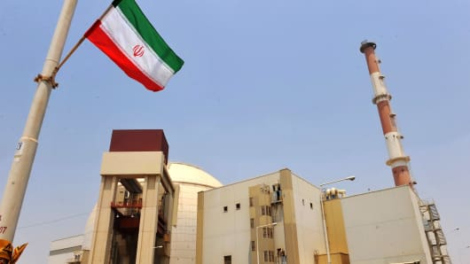 A reactor building at the Russian-built Bushehr nuclear power plant as the first fuel is loaded, on August 21, 2010 in Bushehr, southern Iran.