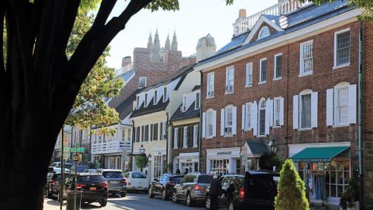Palmer Square in Princeton, N.J.
