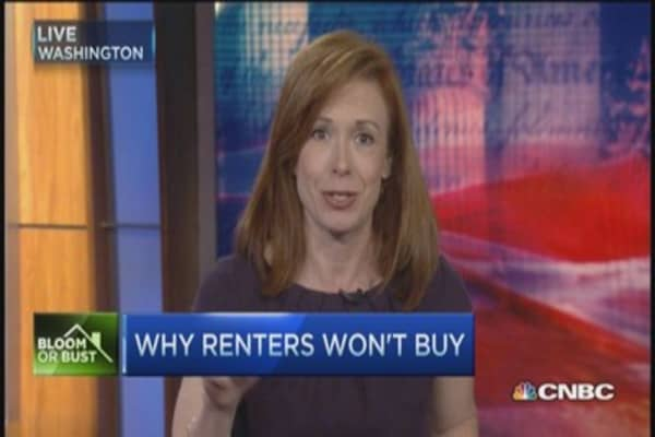 Why renters won't buy