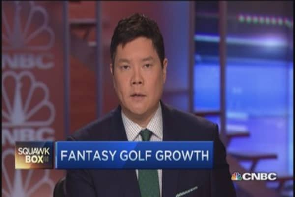 Fantasy golf grows ten-fold in last year: DraftKings