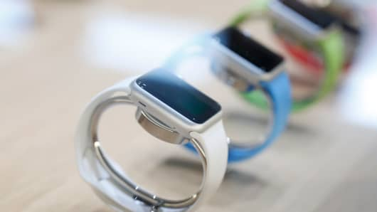Apple Watch on display