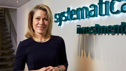 Systematica Investments' CEO Leda Braga in their offices, Geneva, Switzerland last February.