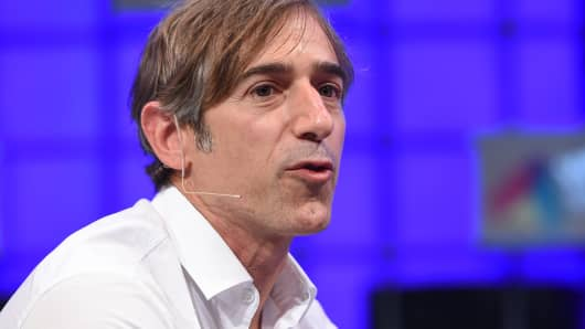 Zynga founder Mark Pincus speaks during the 2014 Web Summit at the RDS, Nov. 6, 2014, in Dublin.