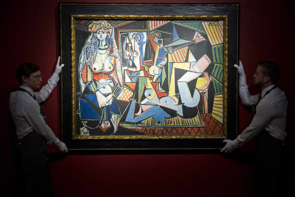 Spanish painter Pablo Picasso's Les femmes dAlger (Version O) on April 10, 2015.