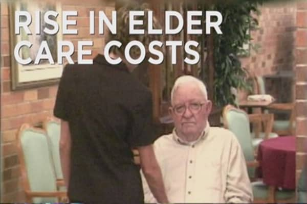 Elderly care costs reaching an all-time high