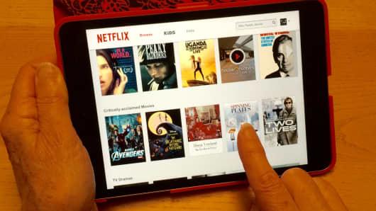 Netflix on an iPad Mini tablet computer