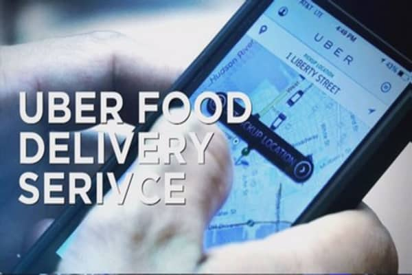 Uber food delivery is on its way