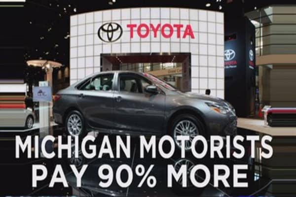 Michigan auto insurance most expensive in US